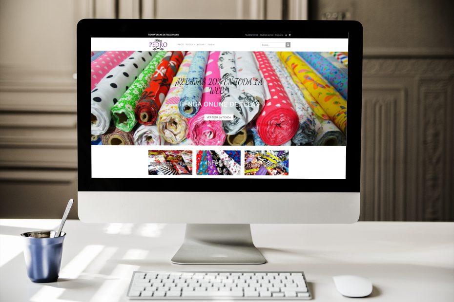 crear tienda online de telas
